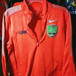 Illinois Nike Pullover Jacket Fight Hunger Bowl